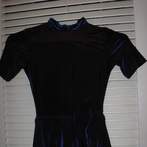 Rebel Navy Blue Girls Figure Skating Dress